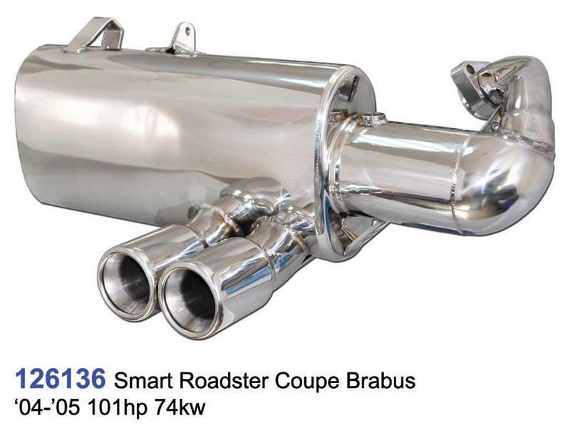 Echappement double sortie pour smart Roadster WME452