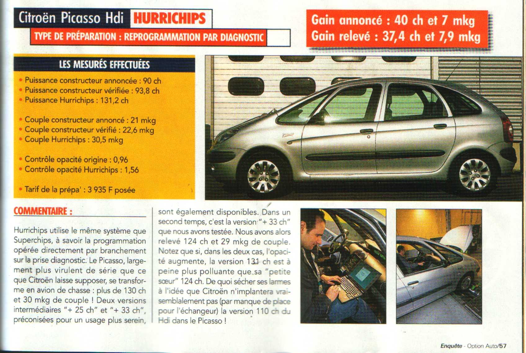 Xsara Picasso 2000 HDI 90 CV Reprogrammation boitier Bosch